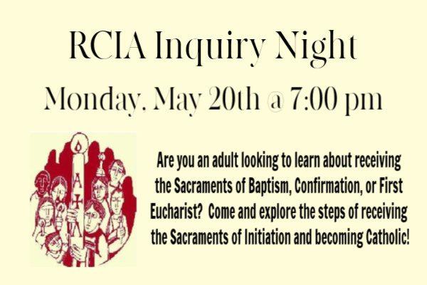 RCIA Inquiry Night