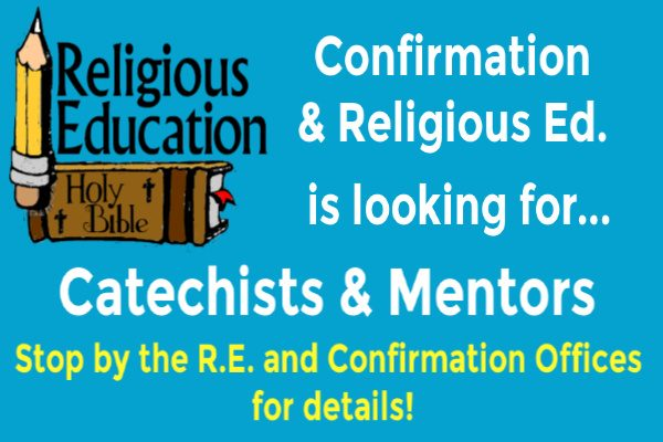 Catechists/Mentors Needed