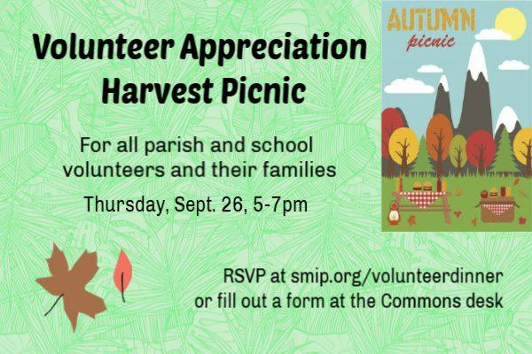 SMI's Annual Volunteer Appreciation Harvest Picnic