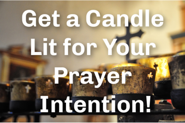 Lighting Prayer Intention Candles